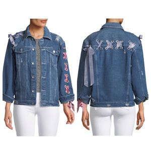 Haute Rogue Denim Lace Jacket